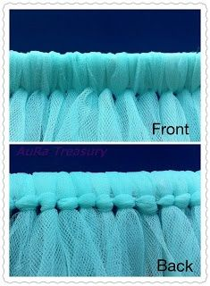 How to Make a Tutu Skirt / Dress - the knots should be on the inside of the skirt, Yes on the inside!!