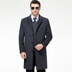 Single Breasted  Full Winter  Wool Overcoat