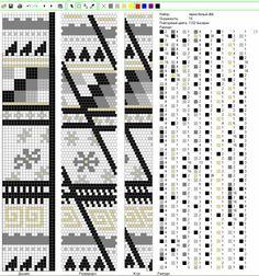 Узоры для вязанных жгутиков-шнуриков 14 | biser.info - всё о бисере и бисерном творчестве