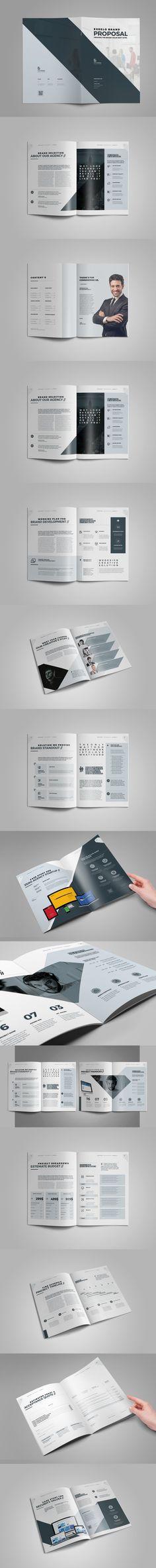 Proposal by ashuras_sharif on Envato Elements Corporate Brochure, Brochure Trifold, Proposal Templates, Grafik Design, Clean Design, Design Reference, Brochures, Brochure Template, Sample Resume