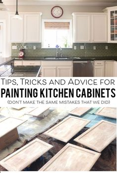 3 Vibrant Cool Tips: Cheap Backsplash Mason Jars tin backsplash countertops.Farmhouse Backsplash Pattern subway tile backsplash ending.Farmhouse Backsplash With Black Granite. Painting Kitchen Cabinets White, White Kitchen Cabinets, Kitchen Paint, Kitchen Redo, Painting Cabinets, Kitchen And Bath, Kitchen Dining, Kitchen Backsplash, How To Refinish Kitchen Cabinets
