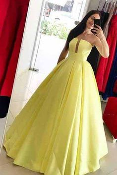 Buy Princess Yellow Prom Dresses, Ball Gown Simple Strapless Long Party Dresses on sale.Shop prom or formal dresses from Promdress. Find all of the latest styles and brands in Junior's prom and formal dresses at jolilis