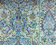 Mozaiek tegel look behang   Swiet