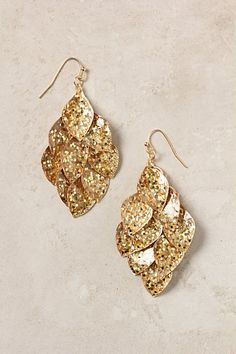 Banana Leaf Earrings #anthropologie