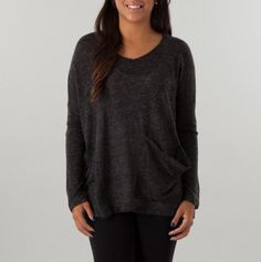 Lace-Up Back Sweater with Slouchy Pockets - Women's Sweaters and Scarves - Events