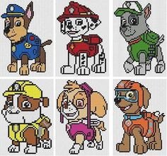 "This item is unavailable This item is unavailable,Kreuzstich (Motive) Paw Patrol Counted Cross Stitch Kits ""All 6 Designs"" bags purses crafts stitches patterns stitch crochet crafts Cross Stitch Baby, Counted Cross Stitch Kits, Cross Stitch Charts, Cross Stitch Designs, Cross Stitch Patterns, Cross Designs, Perler Bead Art, Perler Beads, Stitch Character"