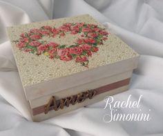 Caixinha amor -arte com decoupage -Rachel Simonini