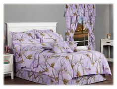 Bass Pro Shops Realtree APC Lavender Collection Comforter Set - Queen