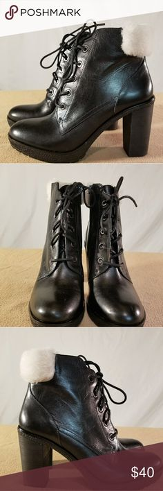Brand New MMK'S Black Heeled Ankle Booties With a touch of fur on the back these shoes are Brand New/Never Worn and are in PERFECT CONDITION. The heel height of this shoe is 3.5 inches tall. MICHAEL Michael Kors Shoes Ankle Boots & Booties