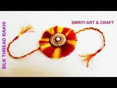 How to make rakhi   raksha bandhan   silk thread rakhi   rakhi making with silk thread - YouTube