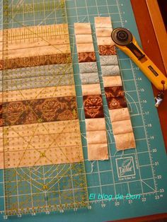 As it seems that you liked the technique of seminole, I have encouraged to make a small tutorial in case someone is encouraged with this theme.Informations About Como parece que os ha gustado la técnica del seminole, me he animado a hacer u. Bargello Quilts, Patchwork Quilt, Mini Quilts, Quilting Tips, Quilting Tutorials, Quilting Projects, Quilting Designs, Tutorial Patchwork, Quilt Block Patterns