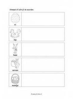Werkbladen taal - pasen ~ Juf Milou Travel Toys, Garage, Toddler Preschool, Classroom, Letters, Teaching, Pdf, Website, Winter