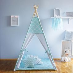 The teepee is an excellent place for your child to play in, read or rest in a cozy environment. Our teepees make each room look appealing and it makes a great play area when left in the living room. It is perfect for outdoors on non-rainy days, protecting kids from sun and wind.
