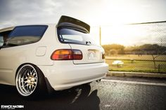 Slammed & Fitted Stanced Honda Civic EG Hatchback
