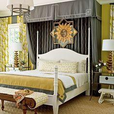 Interior Decorator Colorado designing with bed draperies  half tester bed look-alike