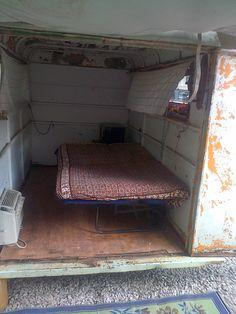 Vintage Rat Rod 1955 Micro camper Teeny Tiny House on Wheels Enclosed Trailer | eBay