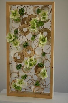 Panel with circles and flowers ~ Moniek Vanden Berghe (via facebook Cleome)