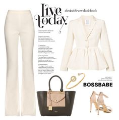 """STYLED By LIZ"" by elizabethhorrell ❤ liked on Polyvore featuring Rosie Assoulin, Giambattista Valli, Dune and Michael Kors"