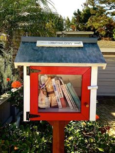 """Living in a digital world, let us not forget the value of a home's library. Loving the, """"Take a book, leave a book"""" mailboxes that are popping up more and more. Well done, Manhattan Beach neighbors."""