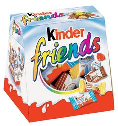 Kinder Friends is a chocolate assortment consisting of: Kinder Schoko Bons, Kinder Country, Kinder Chocolate and Kinder Bueno. Ideal for snacking or sharing with friends. Puffs Cereal, Rice Cereal, Candy Recipes, Gourmet Recipes, Snack Recipes, Fini Tubes, Chocolate Advent Calendar, Snacking, Congratulations Gift