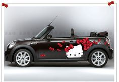 Free Shipping 2013 new car exterior accessories hiqh quality hello kitty Smart car full body vinyl adhesive decoration sticker  $65.00