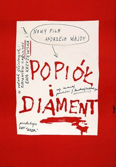 Andrzej Wajda's Ashes and Diamonds Popiół i diament Polish Movie Posters, Polish Films, Best Movie Posters, Film Posters, Film Vf, Film Movie, Diamond Picture, Mini Craft, Its Nice That