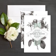 I like the idea of the floral print, but in color, with a transparent shape over it that contain the text for the save the date. The back wouldn't have and flowers just additional info and be a postcard.