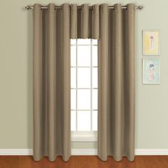 "United Curtain Mansfield Woven Window Curtain Panel, 50 by Plum: Bold, Heavyweight Grommet-Top Panels Are Sure To Complement Any Decor. ""Mansfield"" Comes In Four Rich Colors And The Panels Feature An Available Coordinating Valance! Window Panels, Window Coverings, Window Treatments, Modern Curtains, Colorful Curtains, Grommet Curtains, Drapes Curtains, Room Cooler, Home Decor Outlet"