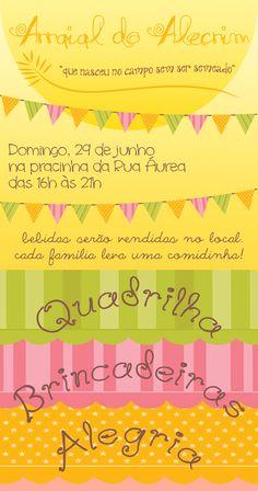 Cartaz Festa Junina por Paula Guimarães-rosa