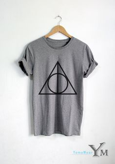 For sale : Deathly Hallows shirt Harry Potter t shirt Harry Potter clothing Unisex tshirt tumblr shirts Welcome to YomaWear  OUR SHIRT SIZES::  in CM