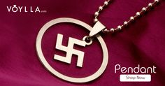 Silver Tone Swastik Dangle Pendant With Chain PRODUCT CODE:312123 #closetcandyaz #Pictures #halloween #wedding