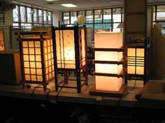 Shoji screen lamp