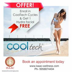 #ISAAC gives you another reason to be happy! Enroll in #CoolTech Cycles  & Get 1 #Hydrafacial absolutely FREE!!! For more information, call now! PH: 9958874494