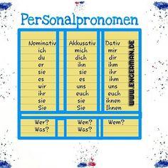 German Language Learning, German Words, Learn German, Youtube, German Language, Personal Pronoun, Grammar, Youtubers, Youtube Movies