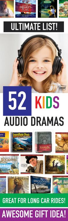 Kids audio dramas are such a FANTASTIC way to teach and entertain kids, either when you're driving across town or driving cross country! Here's a list of some of the best kids audio dramas—a total of 52 amazing stories! Don't miss this incredible list! Yo