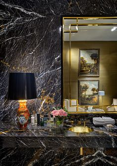 ESPAÇOS PRIVADOS - OITOEMPONTO - Architecture & Interiors  #AlexMouldings, #PowderRoom