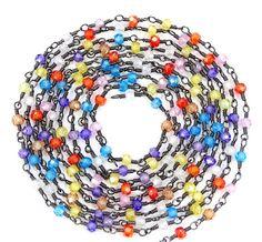 5 Feet Multi Color Faceted Zircon Beads 3 mm by Sunrisegemstone