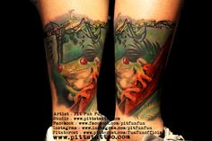 Tattoo frog in the water on calves tattoo tattoo tattoo calf tattoo ideas tattoo men calves tattoo thigh leg tattoo for men on leg leg tattoo Calf Tattoo, Tattoo Thigh, Ankle Tattoo, Frog Tattoos, Animal Tattoos, Tattoos For Guys, Tattoo Designs, Tattoo Ideas, Watercolor Tattoo