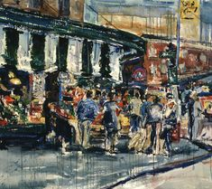 Street Scene painting by Jeremy Winborg