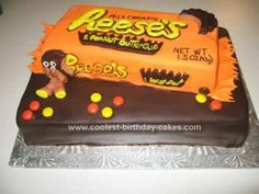 I covered this Reeses Peanut Butter Cake in fondant and modeling chocolate.