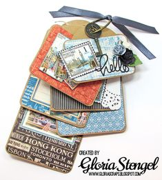 Scraps of Life: Mini Album Makers March Challenge Cityscrape Tag Album by Gloria Stengel Products: Graphic 45
