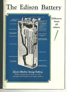 The Edison Nickel Iron Cell...Outlasts Lead Acid Batteries by Decades!