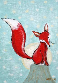 Bright Night Red Fox