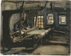 Weaver Vincent van Gogh Watercolor, Pencil, transparent and opaque watercolour, pen in brown ink, on laid paper Nuenen: December - August, 1883 - 84