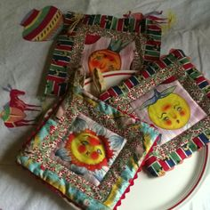 Quilted potholders with Mexican flavor