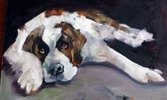 "Daily Paintworks - ""Big Dog"" - Original Fine Art for Sale - © Anne Marie Propst"