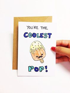 Fathers Day Card Funny Birthday Dad For Father Popsicle