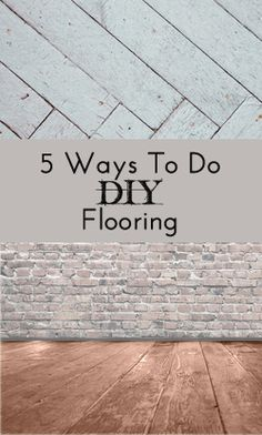 5 Easy #DIY Flooring Ideas. Great way to save money on the remodel!