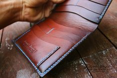 HandMade leather wallet. Hand-coloring, hand-sewing. Complete handmade :-).-SR