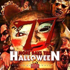 Halloween Countdown, Wonderful Time, Horror, Joker, Movie Posters, Fictional Characters, Art, Art Background, Film Poster